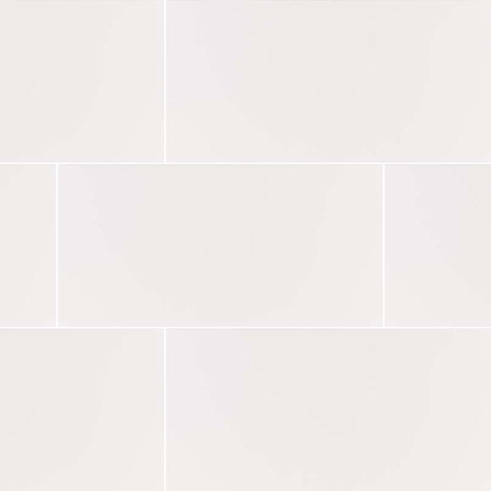 Dymo White 12X24 Glossy Ceramic Tile