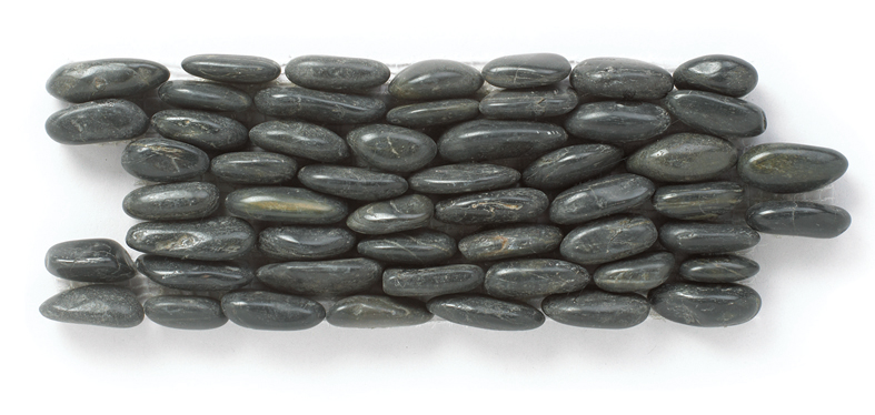 Eclipse 12X12 Interlocking Polished Standing Pebble Tile