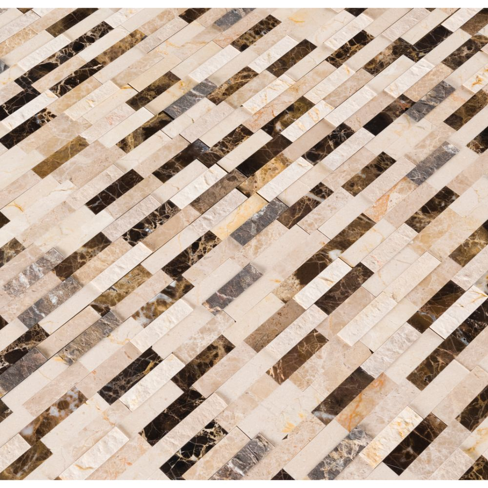 emperador blend splitface peel  stick wall tile tilesbaycom