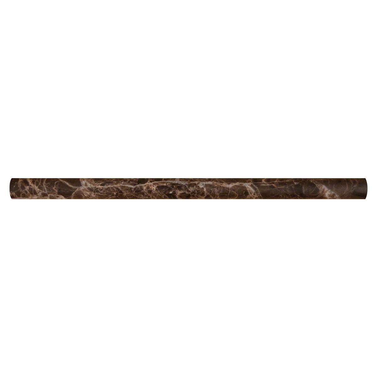 Emperador Dark Pencil 3/4X3/4X12 Honed