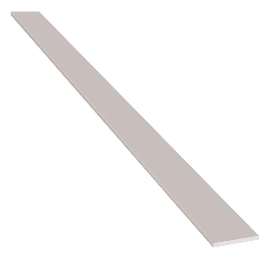 Engineered White 6X36 Polished Double Beveled Threshold