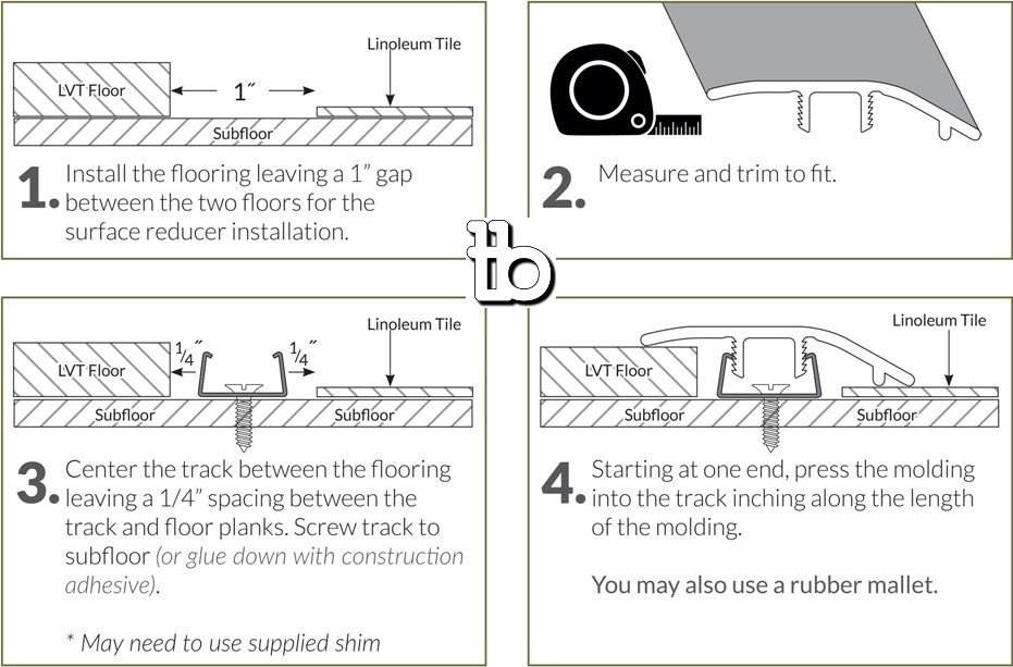 Katella Ash / Woodrift Gray 1-3/4X94 Vinyl Reducer
