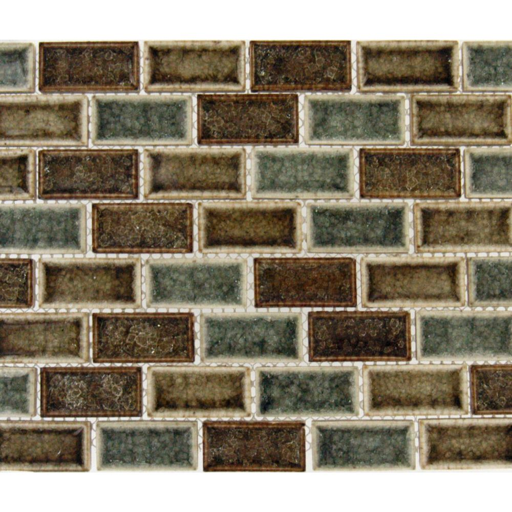 Fossil Canyon 1x2x8MM Blend Glass Mosaic