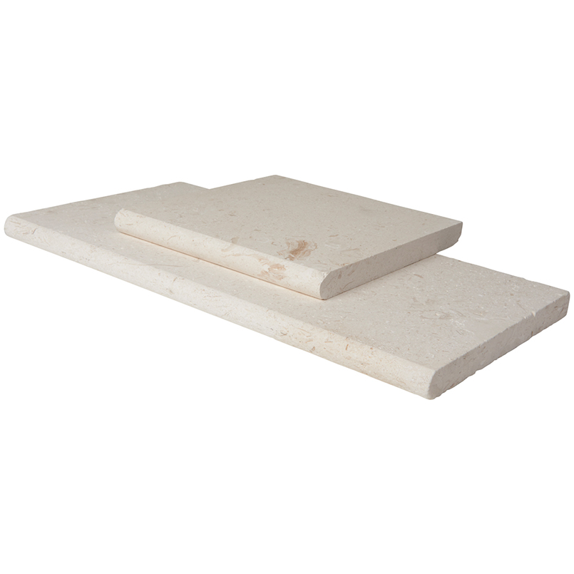 Freska 12X24 Tumbled Eased Edges Limestone Pool Coping