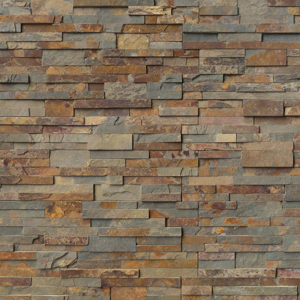 Gold Rush 6X6 Split Face Corner Ledger Panel