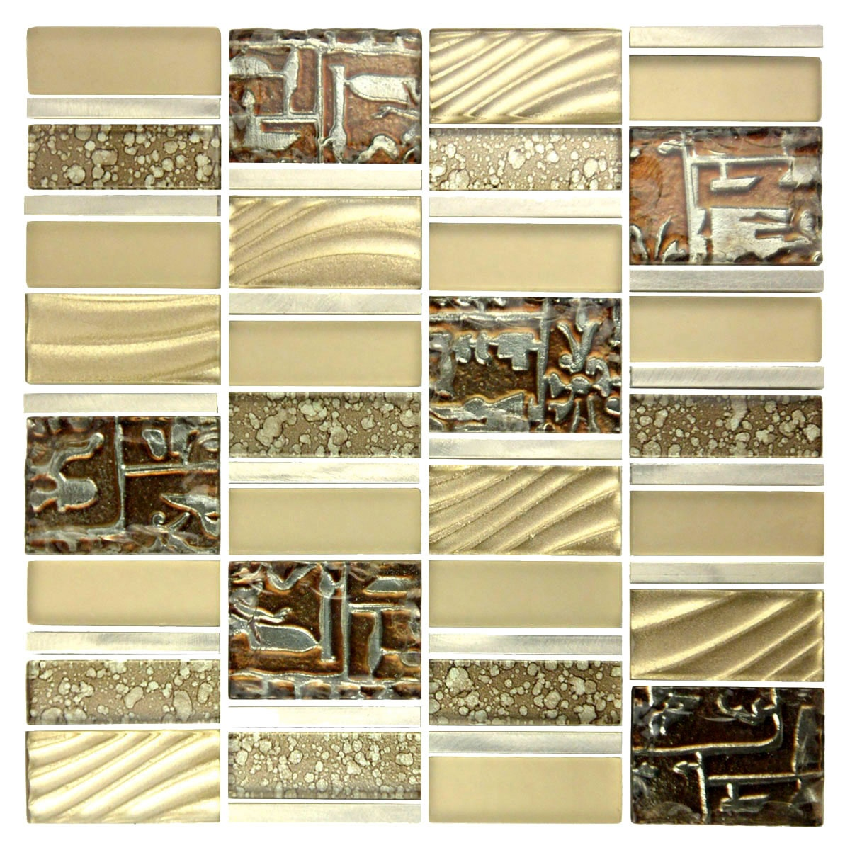 Golden Expression 12x12 Glossy Imperial Collection Mosaic