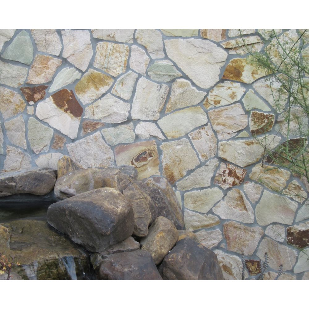 Golden White Mesh Interlock 2.75 Sft/Pc Pattern Flagstone