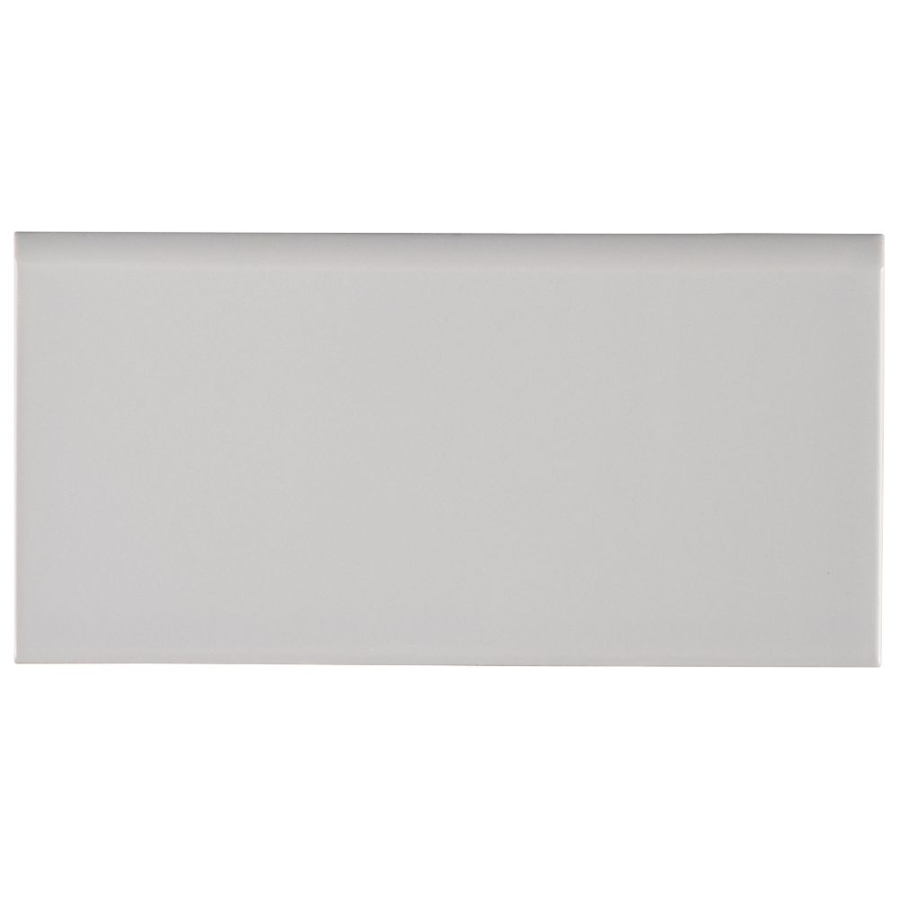 Gray Glossy 3X6 Single Bullnose