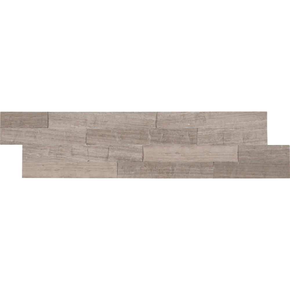 Gray Oak 6X24 Splitface Ledger Panel