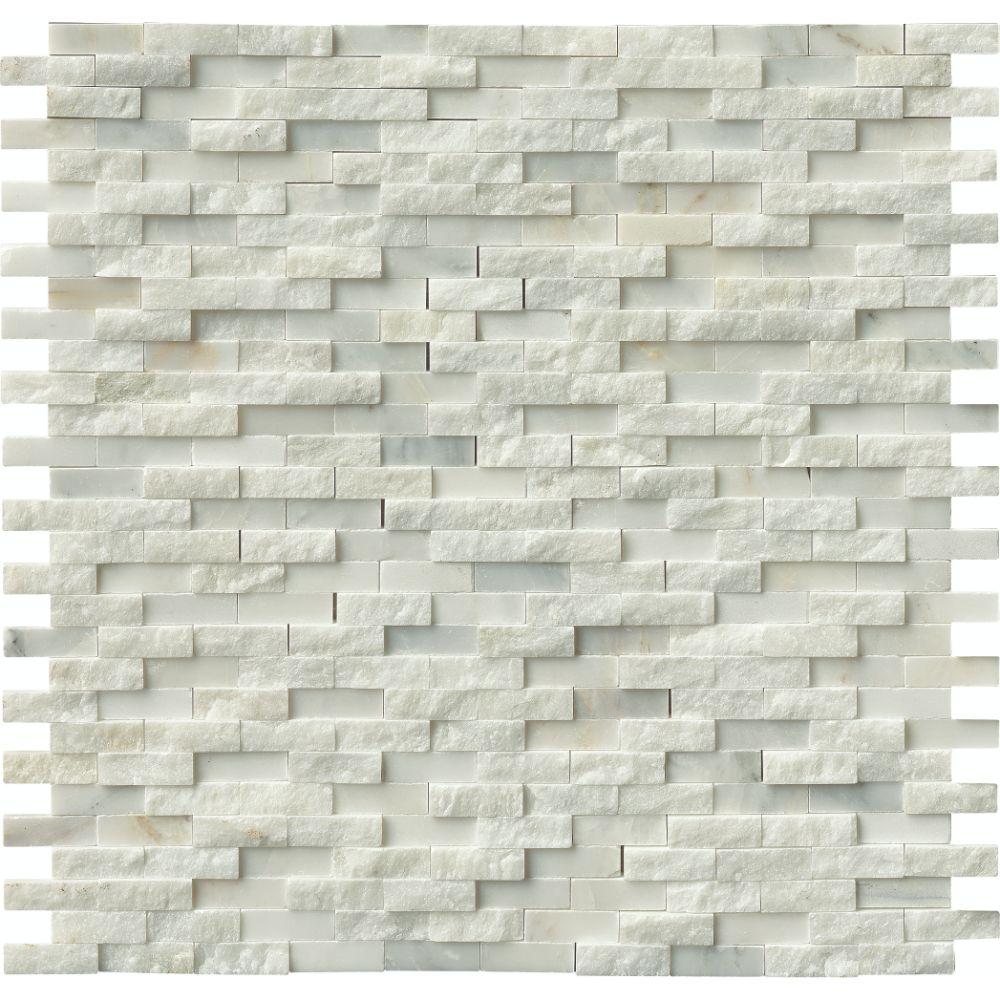 greecian white splitface interlocking pattern mosaic tilesbaycom