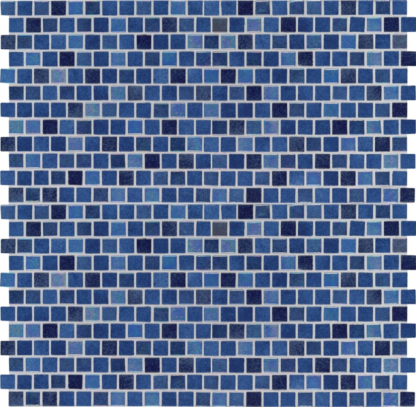 Hawaiian Blue 1x1 Staggered Glass Mosaic Tilesbay Com