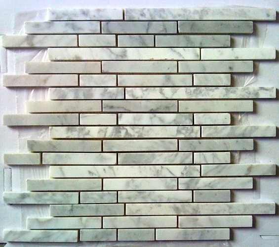 Arabescato Carrara Maze Interlocking 12x12 Mosaic
