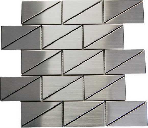 """Odyssey Subway 2""""x4""""  Stainless Steel Mosaic"""