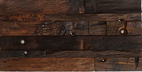 Heritage 11-3/4x23 Antique Wood Panel Mosaic