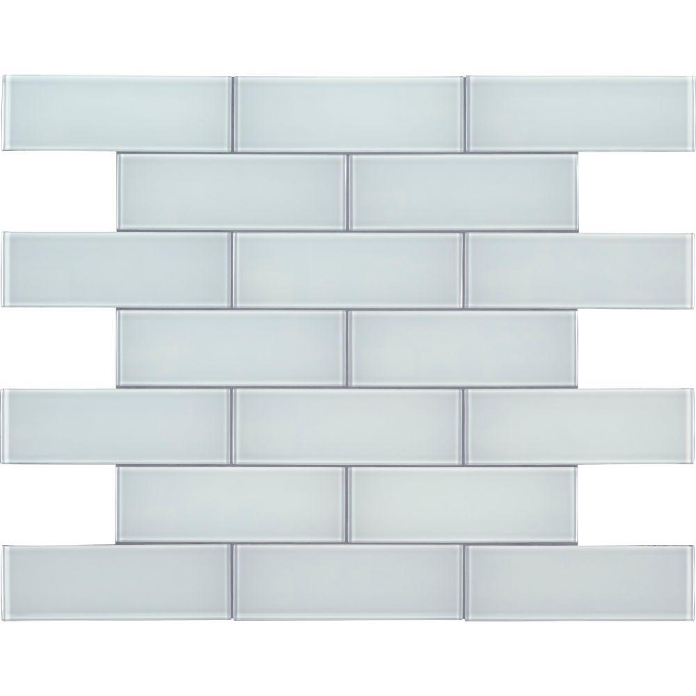 Ice Glass 3x9 Backsplash Subway Tile Tilesbay Com