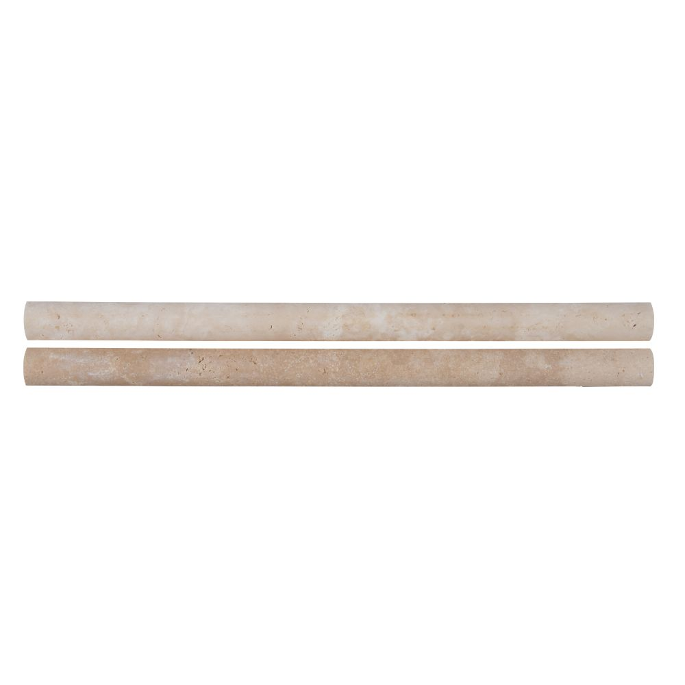 Ivory Travertine 3/4x3/4x12 Honed Pencil Molding