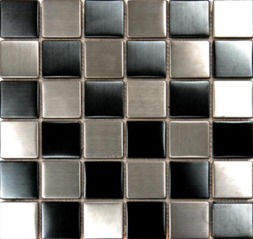 Metal Black Silver Matte12X12 Metal