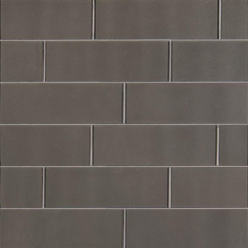 Metallic Gray 4x12 Glossy Subway Tile Tilesbay Com