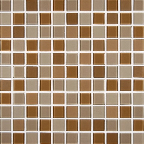 Mocha Cream and Frosted 1x1x4MM Mosaic