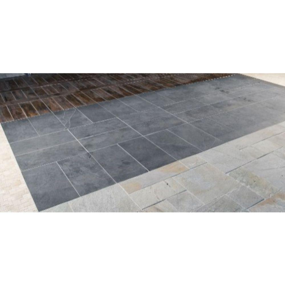 Montauk Black 12X24 Gauged Slate Tile