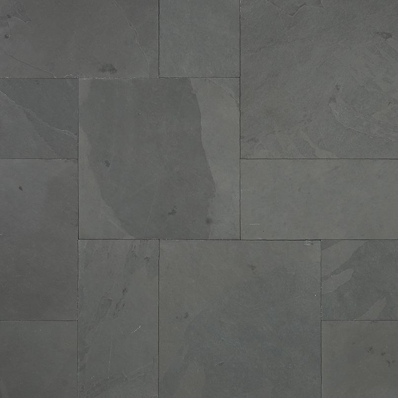 Montauk Black French Pattern 16 Sqft x 10 Kits 2 Inch Natural Cleft Paver