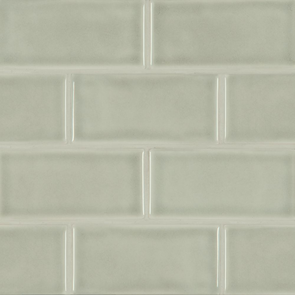 Morning Fog Handcrafted 3x6 Glossy Subway Tile