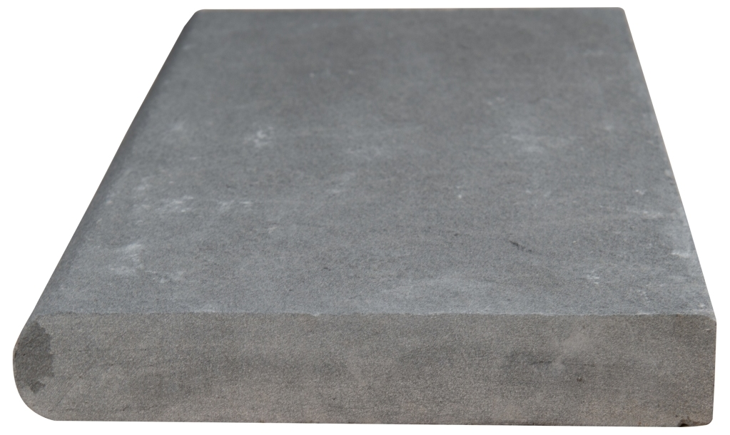 Mountain Bluestone 12x24x1.2 Flamed One Long Side Bullnose Pool Coping
