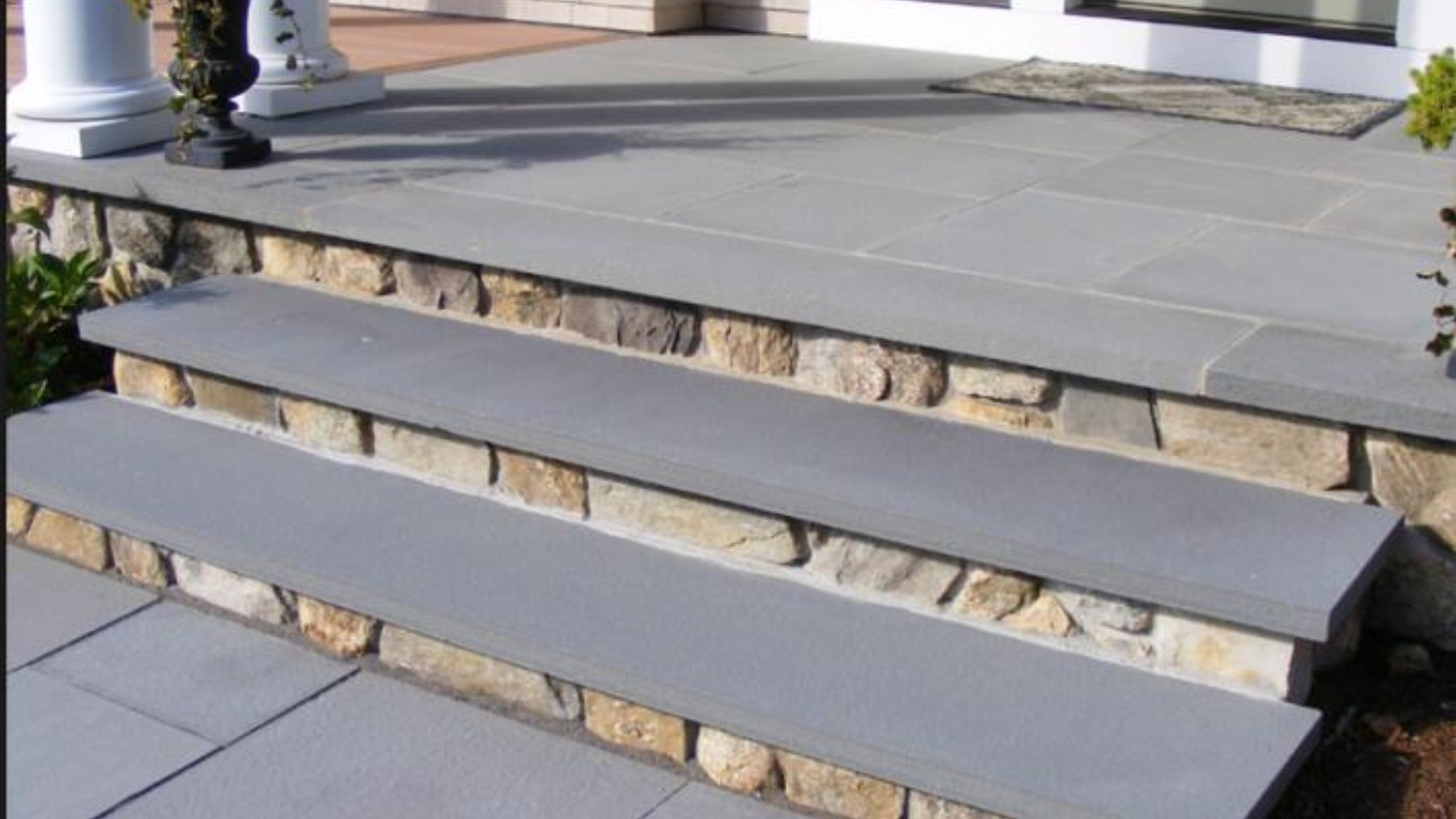 Mountain Bluestone 12x96 Hand-cut Sandstone Tread