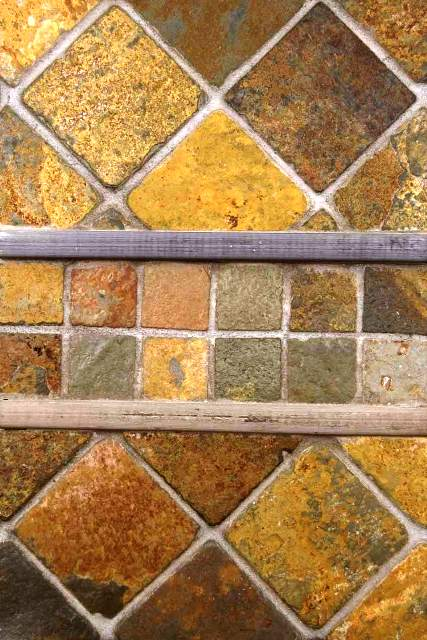 Multi Classic Slate Tumbled Mosaic Tiles