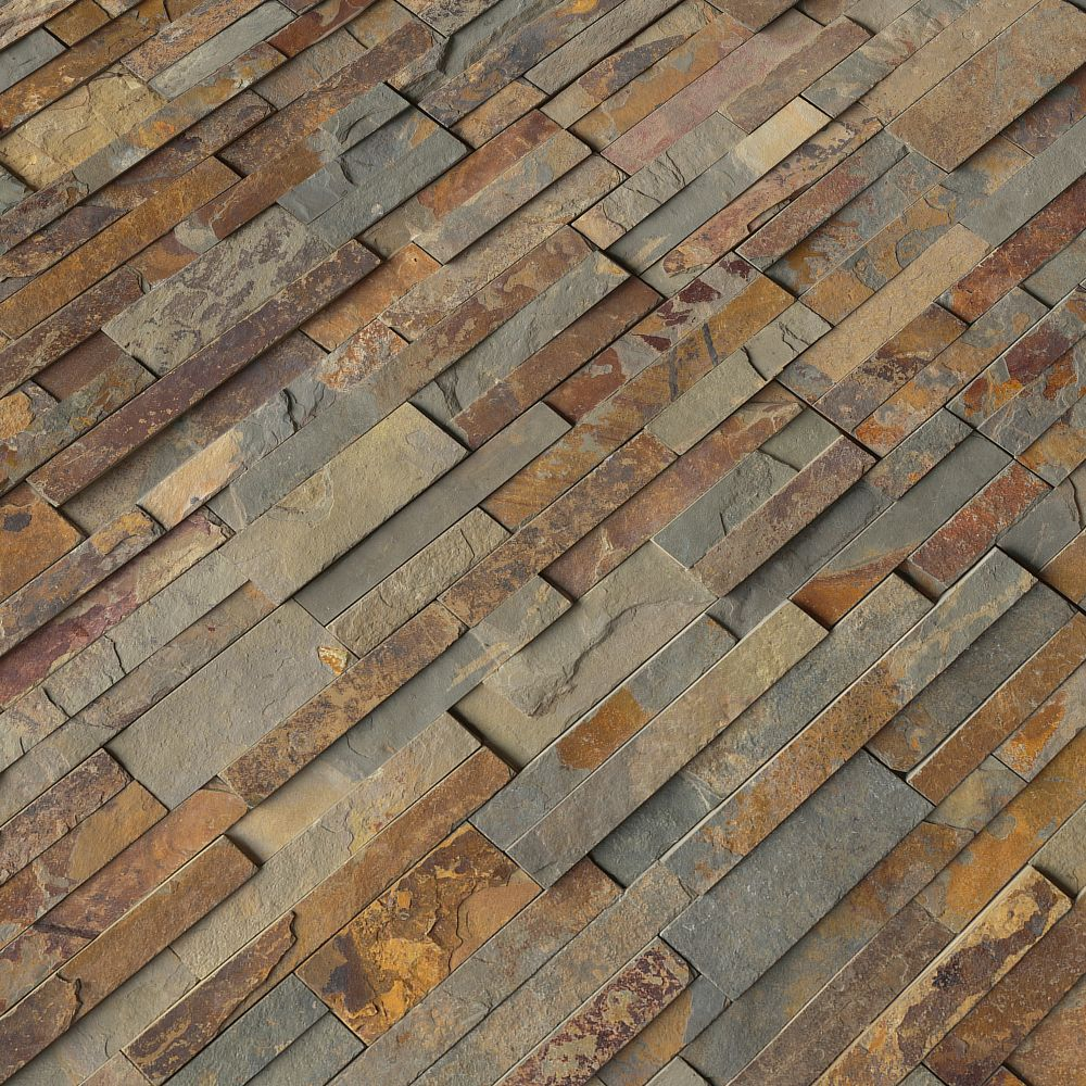 Natural Earth 6X24 Ledger Panel Natural Slate Wall Tile