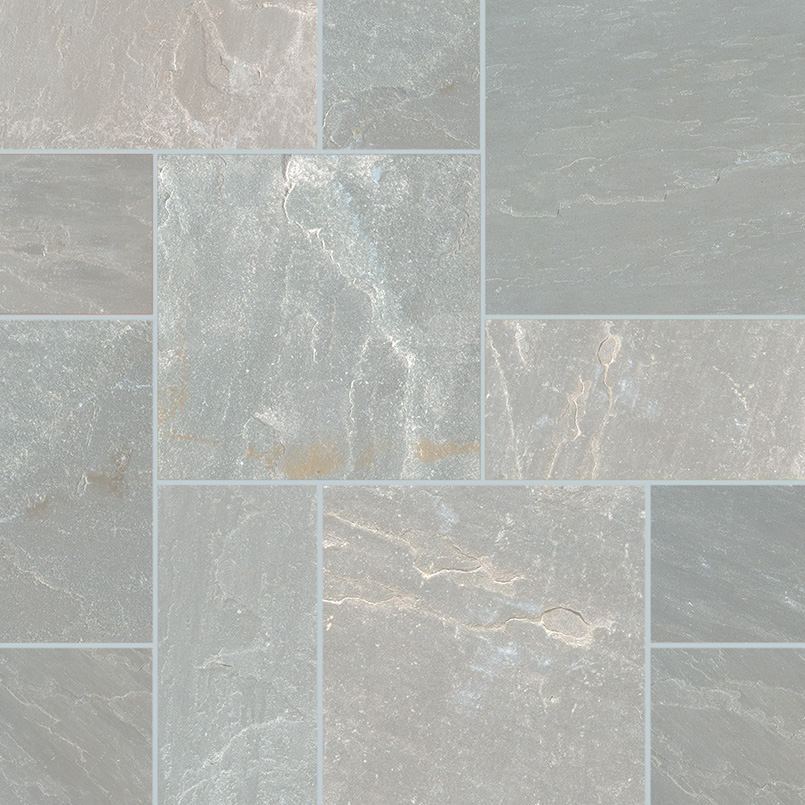 Nova Gray 160 Sft Natural Tumbled Versailles Pattern Pavers