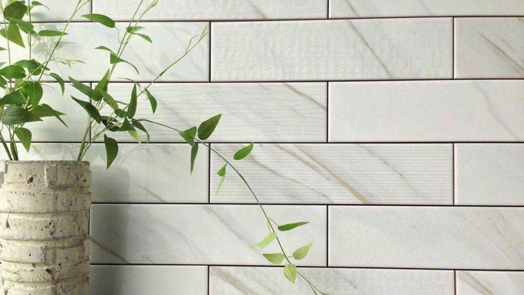 Ola White 4X16 Glazed Ceramic Wall Tile