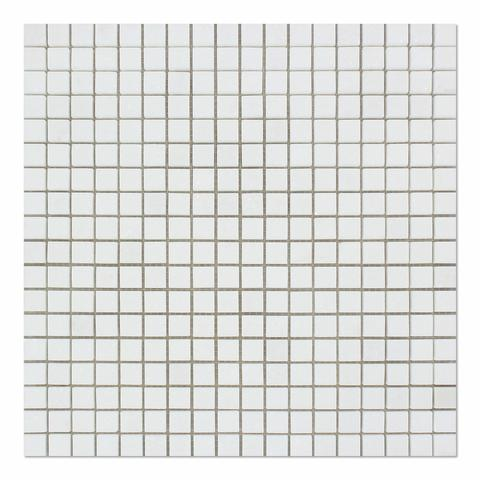 Oriental White 5/8x5/8 polished Mosaic