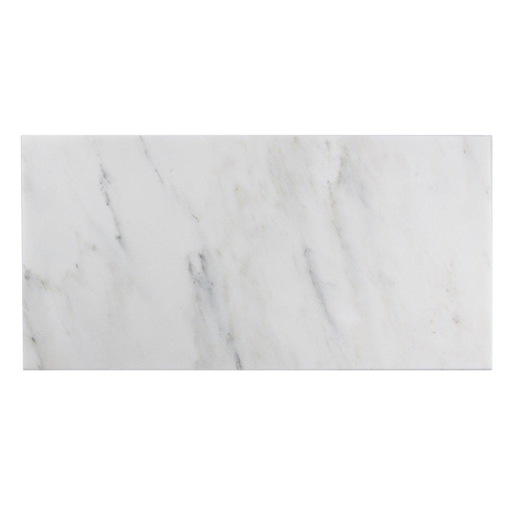 12x24 Marble Tile: Oriental White Polished 12x24 Marble Tile