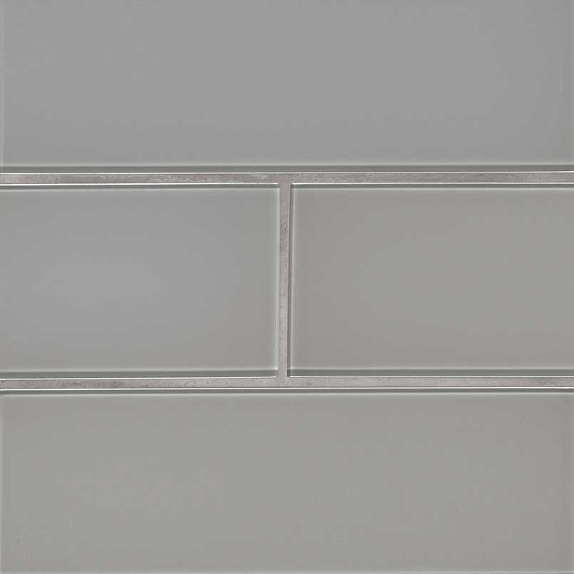 Oyster Gray 4x12 Glass Subway Wall Tile