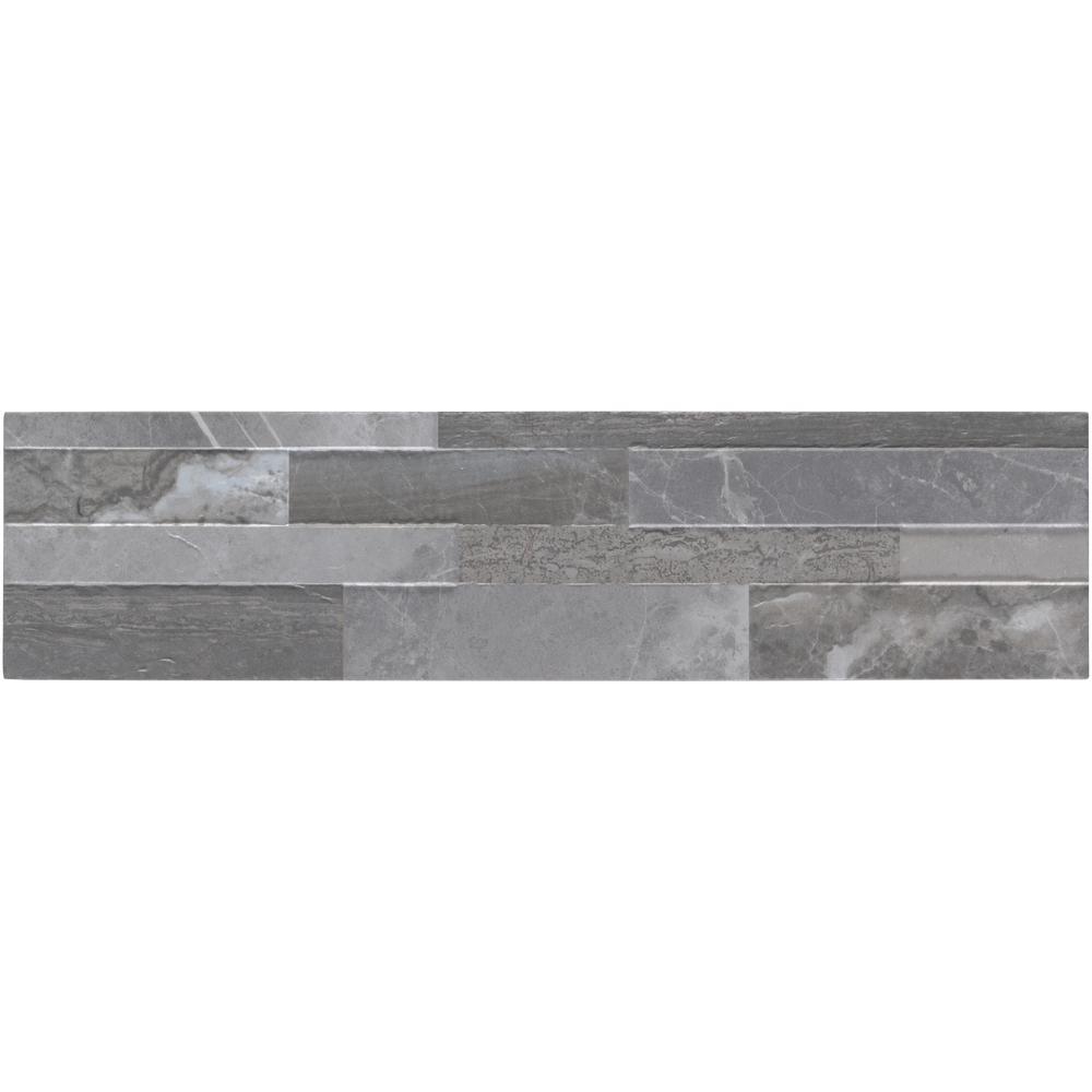 Palisade Grey 6X24 Matte Porcelain Ledger Panel