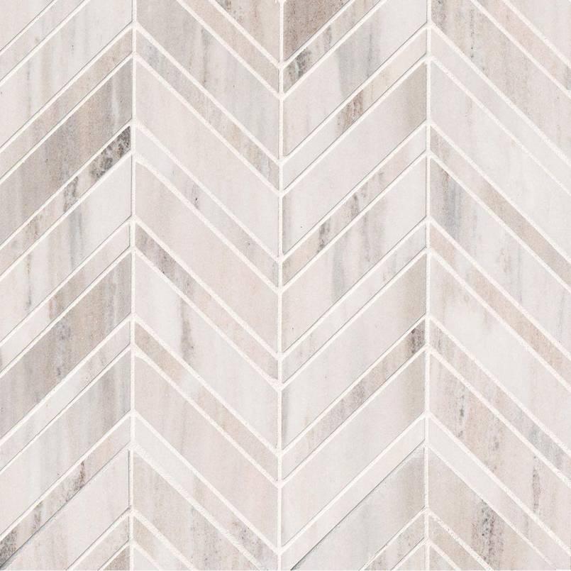 Palisandro Chevron Polished Pattern Mosaic
