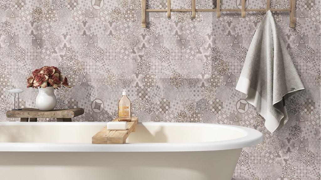 Patternia Hexagon 7X8 Matte Ceramic Wall Tile