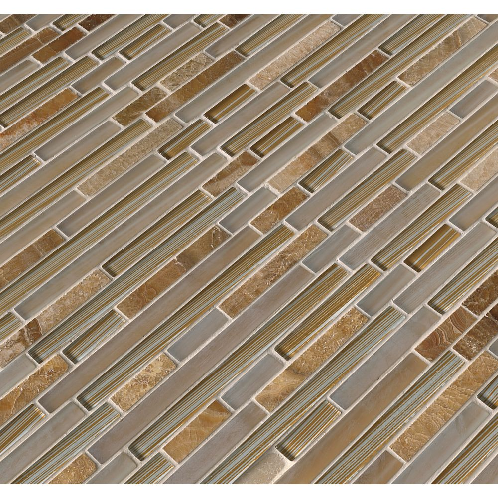 Pelican Sand Interlocking 8MM Mosaic