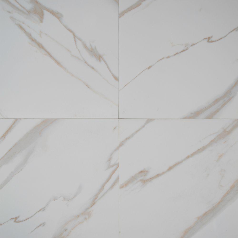 Pietra Calacatta 18x18 Polished Porcelain Tile