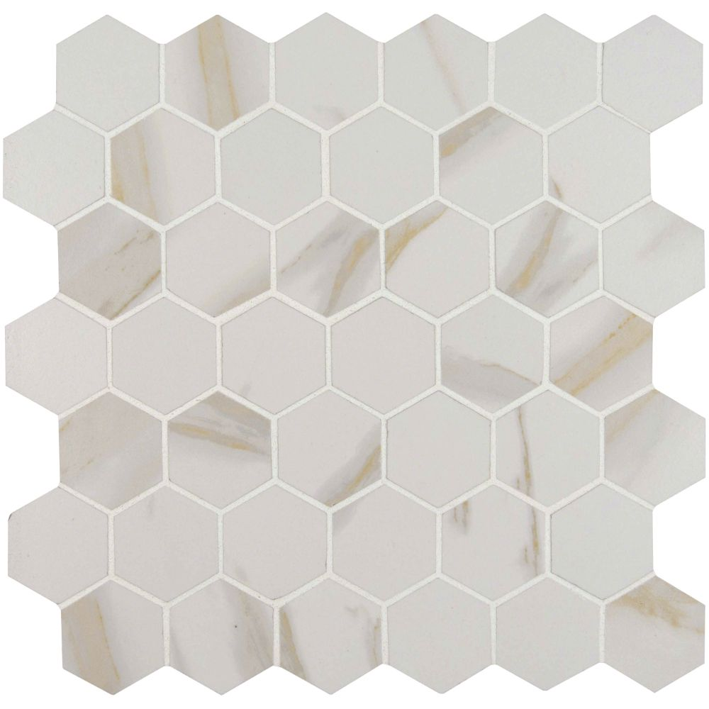 Pietra Calacatta 2x2 Hexagon Matte Mosaic