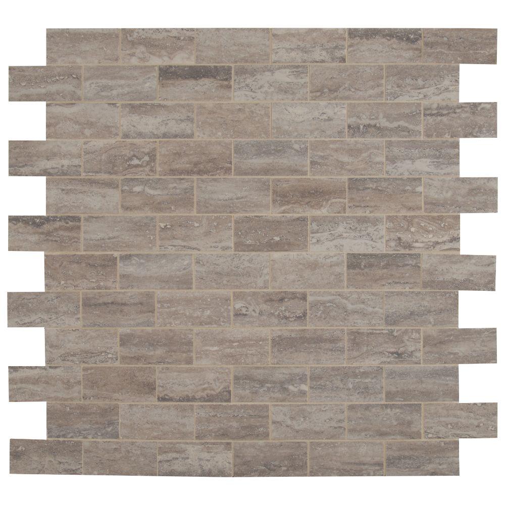 Pietra Venata Gray 2X4 Polished Mosaic