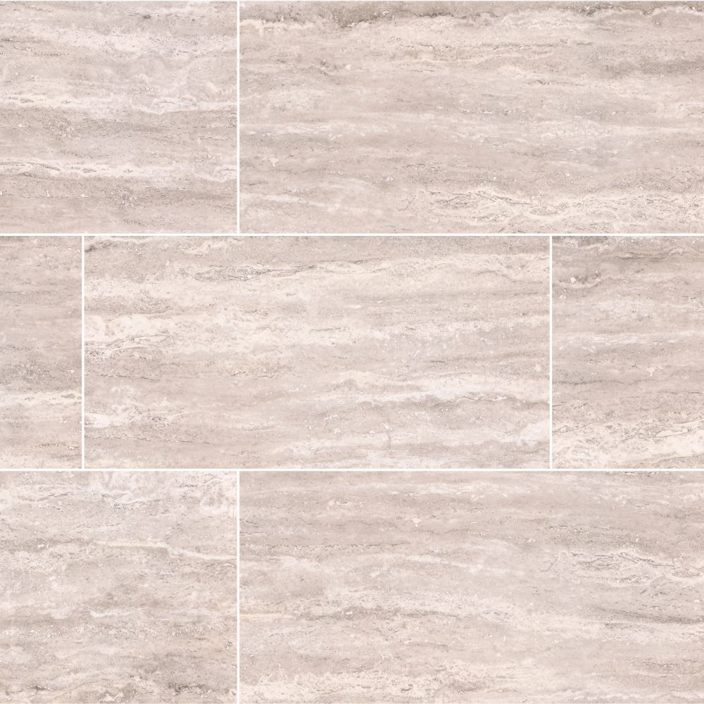 Pietra Venata White 12X24 Polished Porcelain Tile