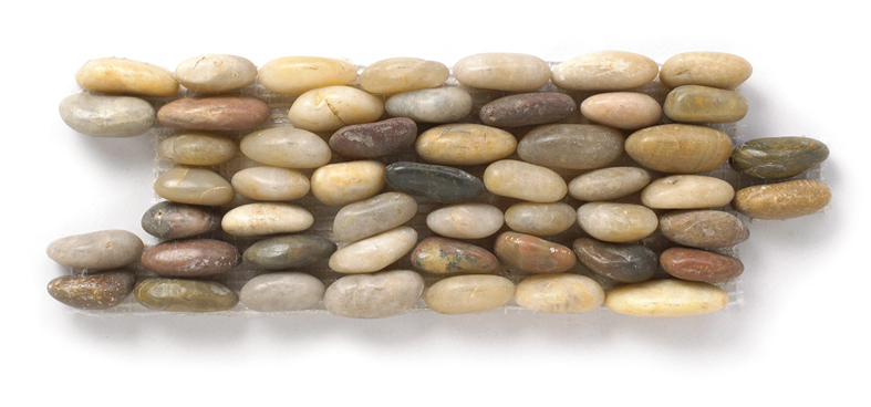 Rainbow Interlocking Polished Standing Pebble Tile