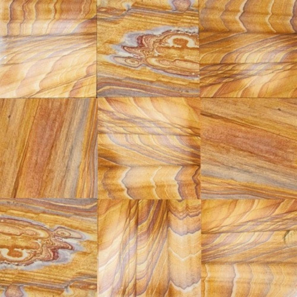 Rainbow Teak 12X12 Gauged