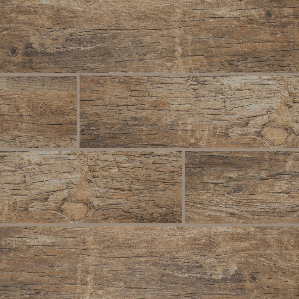 Redwood Natural 6x24 Glazed Porcelain