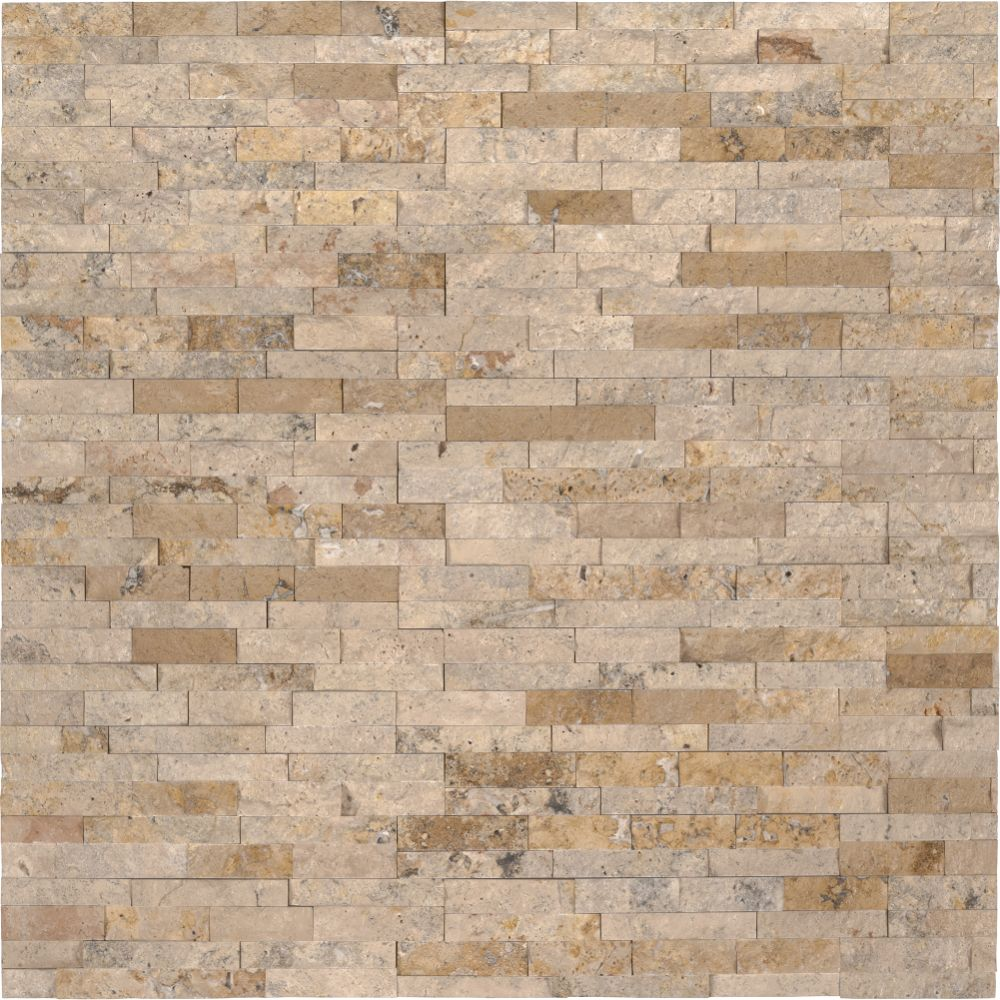Roman Beige 4.5x16 Split Face Mini Ledger Panel