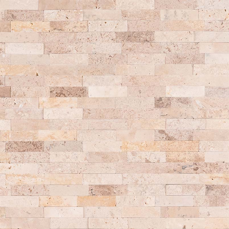 Roman Beige Splitface Peel And Stick Wall Tile Tilesbay Com