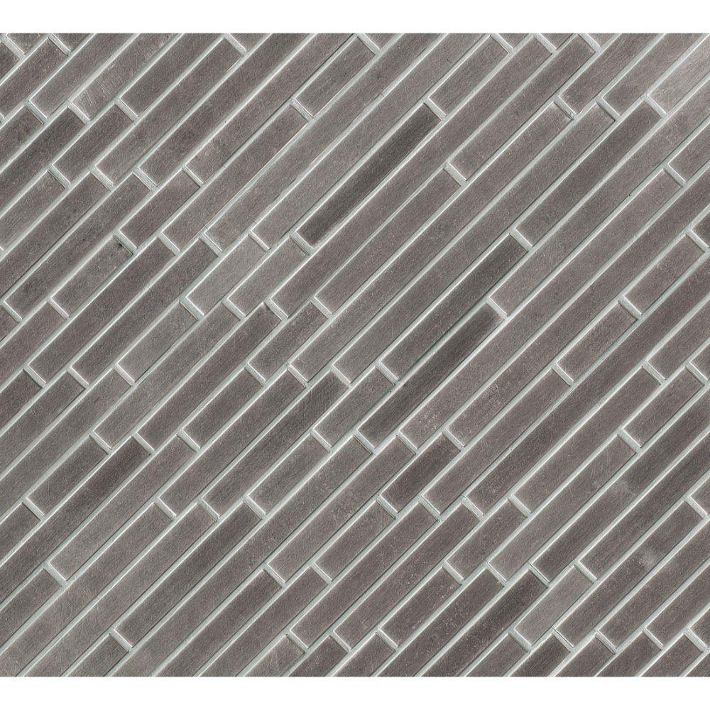 Silver Metal Interlocking Pattern Metal