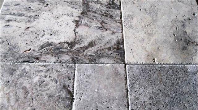 Silver Travertine 8X16 Honed Unfilled Tumbled